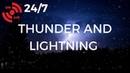 THUNDERSTORM Sleep Sounds | Heavy RAIN Sounds, THUNDER LIGHTNING at Night (24/7 Storm)