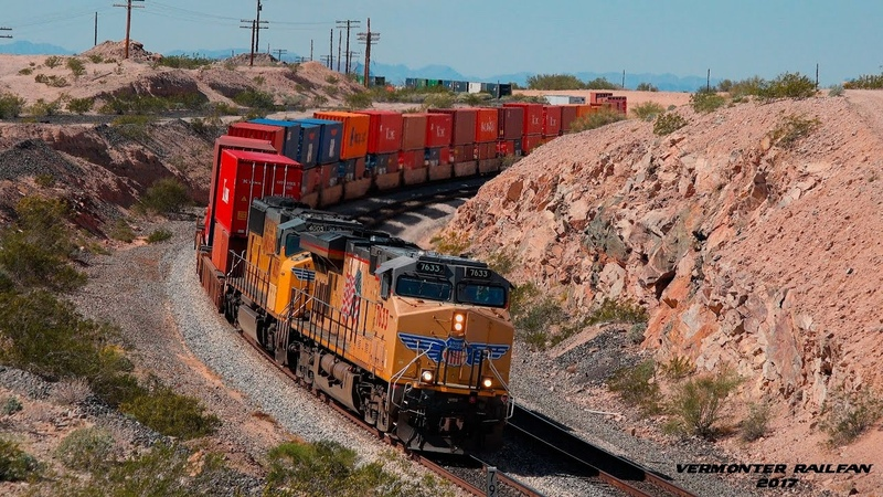 {4K} Railfanning the Curves Grades of Mohawk Arizona