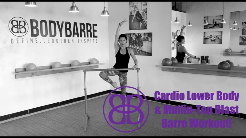 👏 Cardio LUNGE Muffin Top FAT BLASTER 👏 barre workout with PAIGE!!