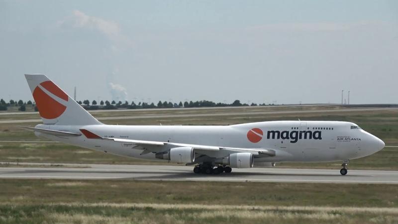 Boeing 747-481(BCF) Air Atlanta Icelandic [TF-AMP] take off @ LeipzigHalle Airport 12.06.2018