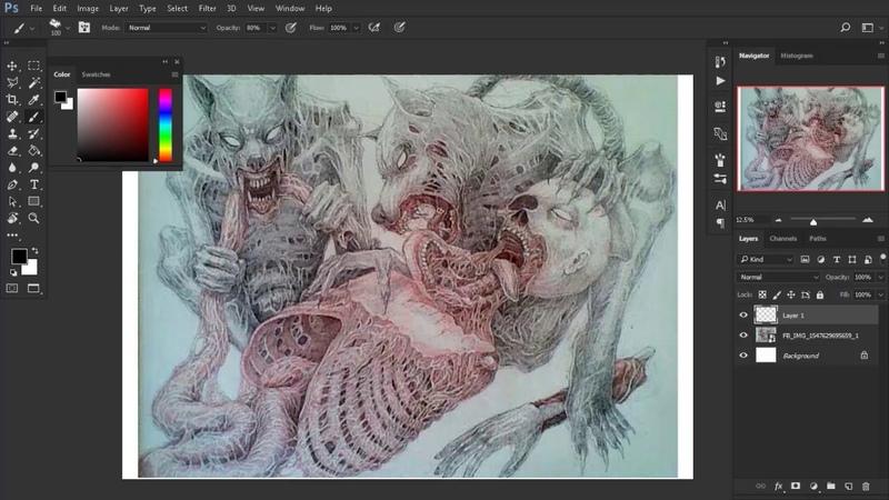 Tyson Artbhorrent Disturbing Lost In The Darkness Speed Painting