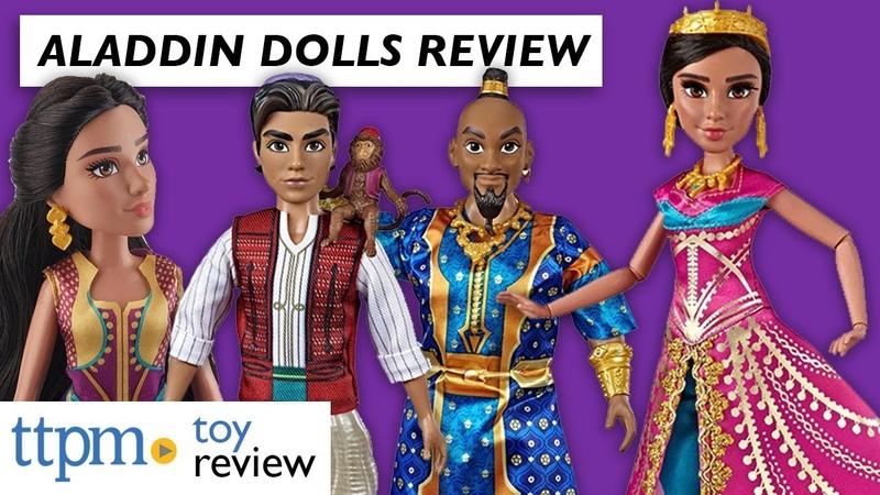 ОБЗОР кукол: Disney Aladdin Princess Jasmine, Aladdin, Genie, and Glamorous Jasmine Dolls from Hasbro