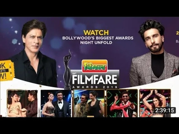 Filmfare Awards 2019 Official Full Episode Shahrukh Khan Ranveer Rajkumar Vicky Kaushal