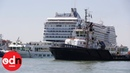 Terrifying moment cruise ship ploughs into tourist boat