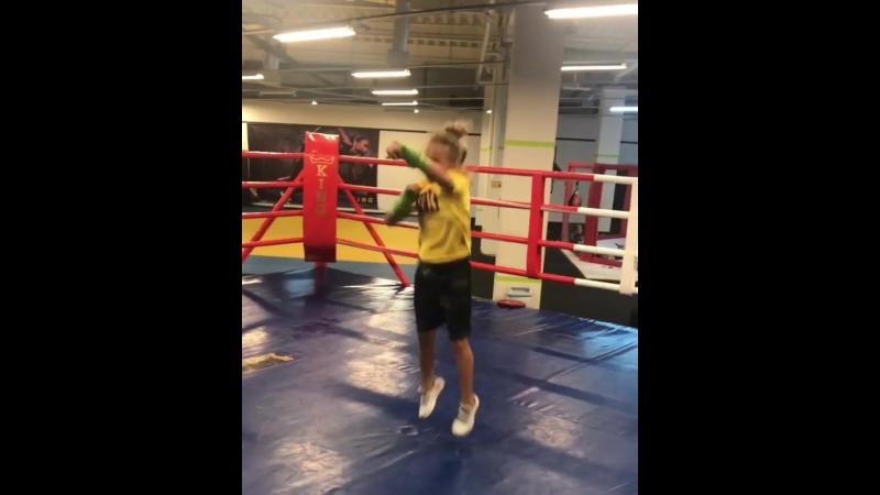 Тренировка перспективной украинки Киры Макогоненко.