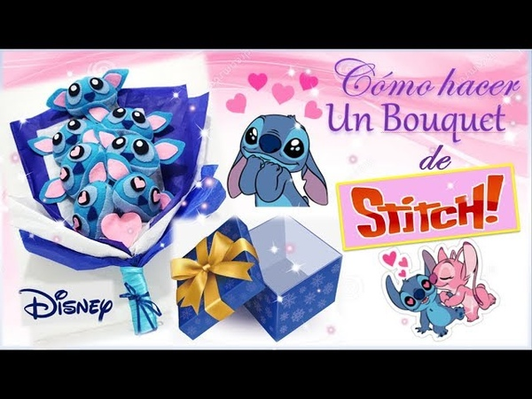 DIY REGALA BOUQUET DE STICH PELUCHE / DISNEY LOVE / Bonito regalo