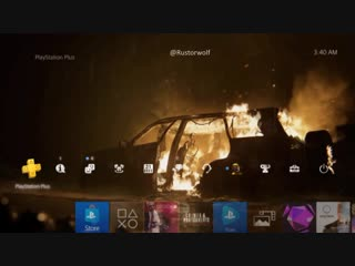 The Last of Us Part II – Burning Car Dynamic PS4Theme