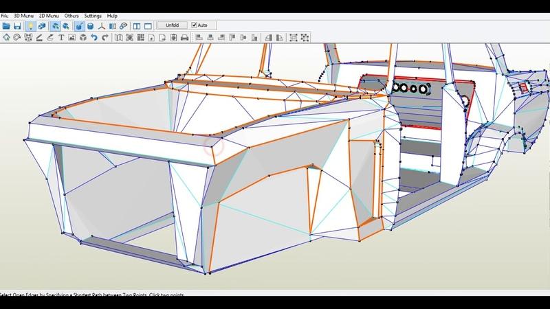 UDS 3. Как правильно разрезать 3D модель на выкройки в Pepakura
