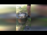 Самоделка для готовки на костре из барабана стиралки