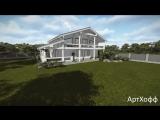 Двухэтажный дом из профилированного бруса | Проект дома от «АртХофф»