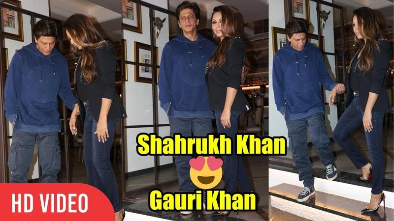 King of Romance Shahrukh Khan with Wife Gauri Khan visit a Newly Designed Restaurant by GAURI KHAN