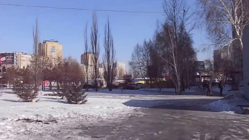 г.Омск улица Комарова и бульвар Архитекторов