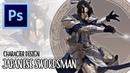 Character Design - Japanese Swordsman   Photoshop Painting