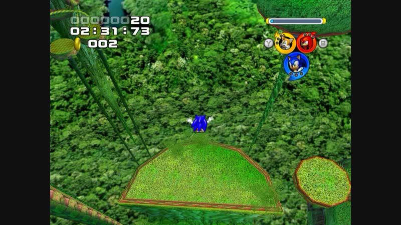 Sonic Heroes Баг бесконечно падаем в яму