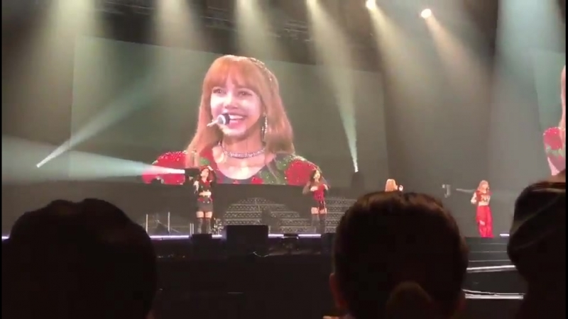 180816 LISA talking cut @ BLACKPINK JAPAN ARENA TOUR 2018 in Fukuoka (day 1)
