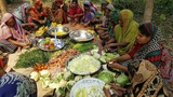100 KG Fresh Vegetables &amp Rice Prepared By Village Women - Tasty Mixed Vegetables Rice Cooking