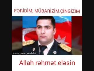 Şəhidlərim ruhunuz qarşısında baş əyirəm. Allah rəhmət eləsin Cənnət qoxulu Şəhidlərim. 🇦🇿