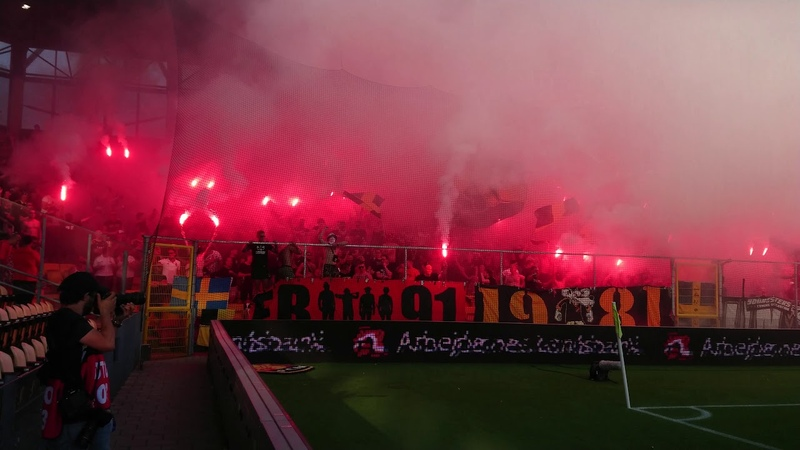 AIK fansens bengaltifo Nordsjälland AIK 1 0