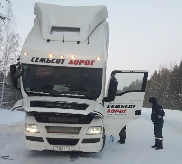 На трассе «Братск – Усть-Илимск» полицейские помогли дальнобойщику из Йошкар-Олы