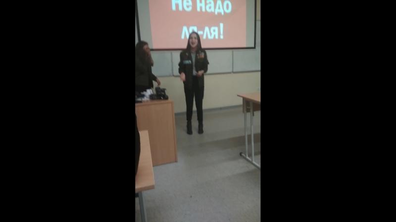 Выступление Ани на Вечернем Ваганте