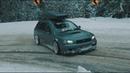 Subaru Legacy GTB Drifting straight pipe exhaust