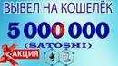 Вывел на кошелёк 5 000 000 satoshi ETH Плюс новая АКЦИЯ