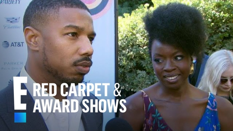 Michael B. Jordan Danai Gurira Gush Over Black Panther Noms | E! Red Carpet Award Shows