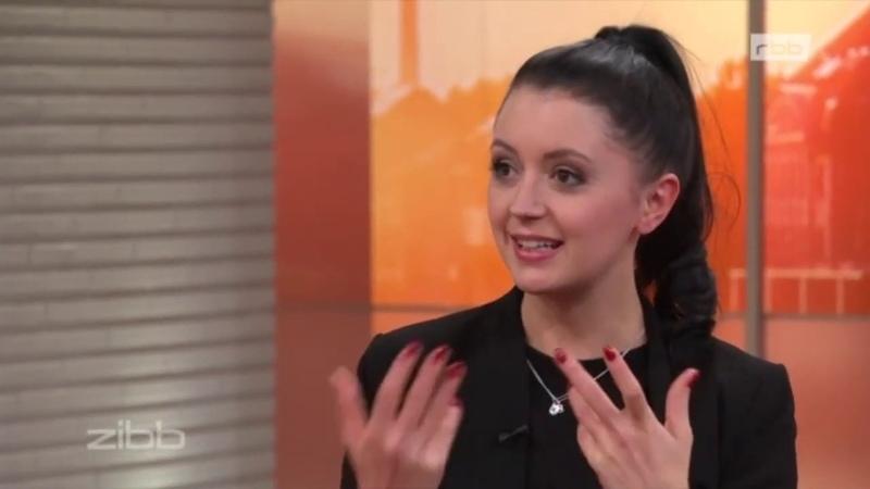 10122018 zibb Sängerin Sotiria Schenk im rbb Fernsehen