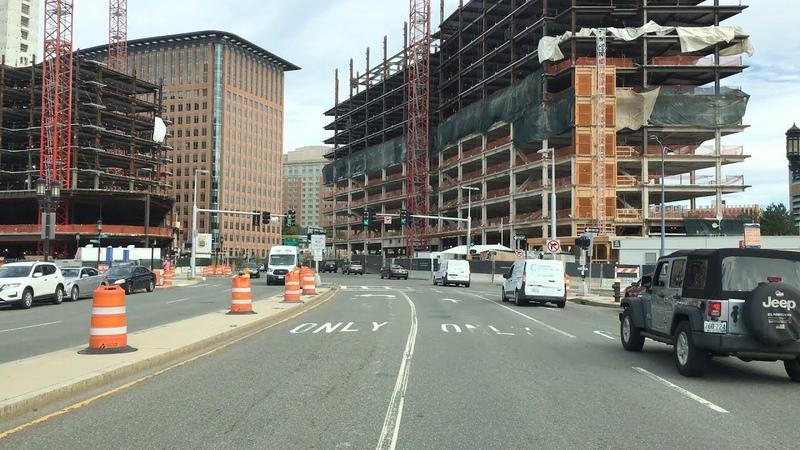 Boston Drive 4K Boston's Booming Seaport District USA