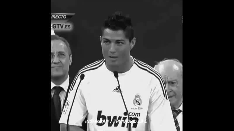 Cristiano Ronaldo Real Madrid Hala Madrid Vamos 😍