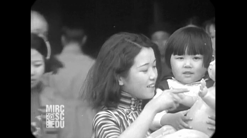Apr 4, 1934 - Rally for Children's Day in Shanghai, China (real sound)