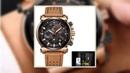 Reloje 2018 LIGE Men Watch Male Leather Automatic date Quartz Watches Mens Luxury Brand Waterproof