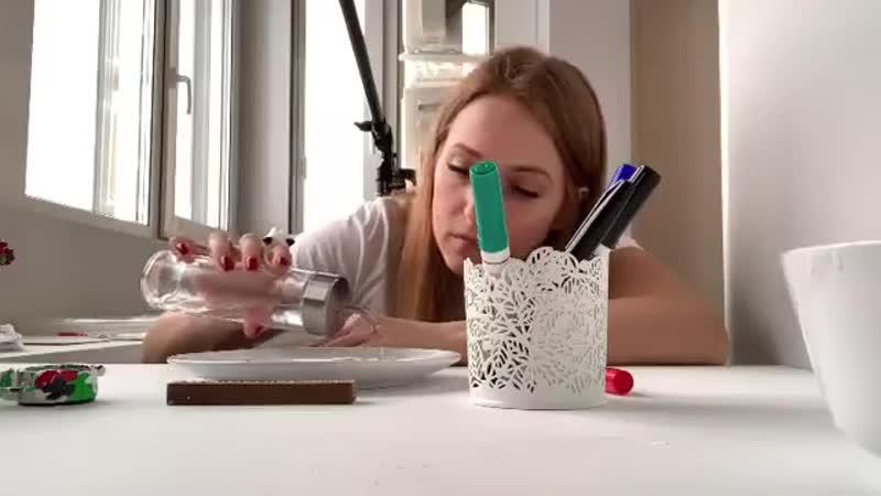 фокус с маркером и водой