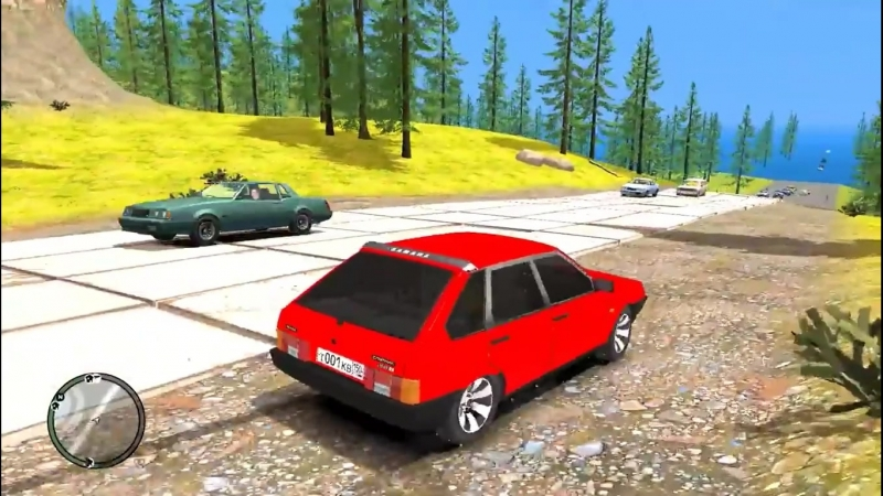 Grand Theft Auto IV Criminal Russia 2 серия Школьник Украл Отца Жигуль