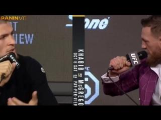 Пресс-конференция Коннора Макгрегора и Хабиба Нурмагомедова перед UFC 229