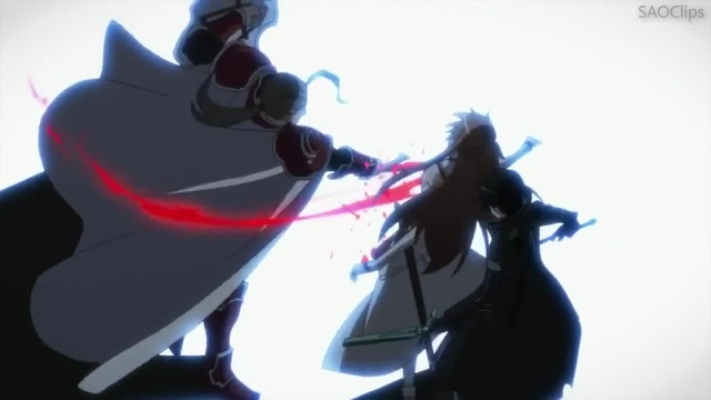 Sword Art Online - Kirito vs Heathcliff (Final Boss) [English Dub]