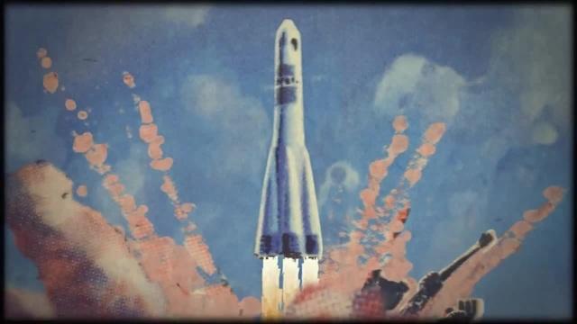 Ракеты улетают вдаль Rockets fly away