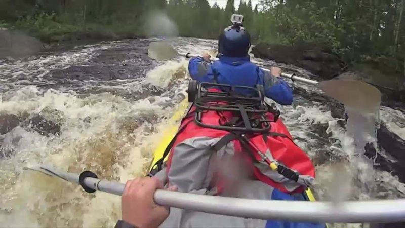 Река Поньгома Сплав Поход 2015 Байдарка Хатанга 3 спорт Пороги