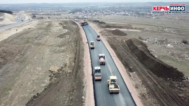 Строительство объездной дороги вдоль пещеры под «Тавридой» возле Зуи