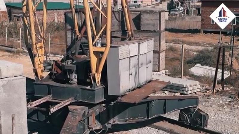 Видеоотчет строительных работ на строительной площадке панельного дома жилого комплекса Мраморный