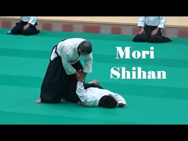 Tomohiro Mori Shihan at the Tokyo Metropolitan Aikido Federation Demonstration 2018