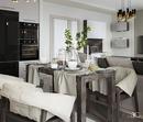 #zolotoe_sechenie68 🔸Дизайн интерьера🔸архитектура🔸ландшафт🔸 .  Современная Кухня-гостиная 32 м2 для