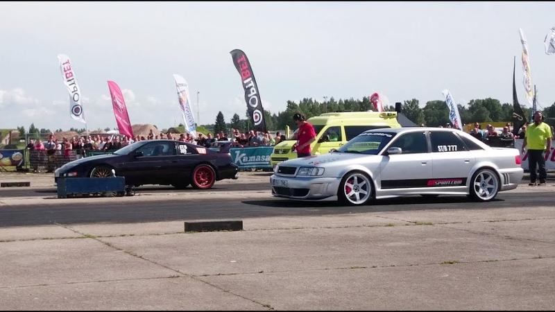 '94 Audi S4 Quattro 2.2T 20v vs Nissan 300zx 3.0T 1/4 mile drag race