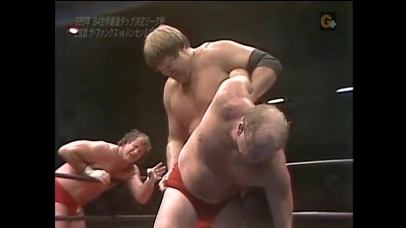 1984.12.08 - Bruiser Brody-Stan Hansen vs. Terry Funk-Dory Funk Jr. (RWTL)