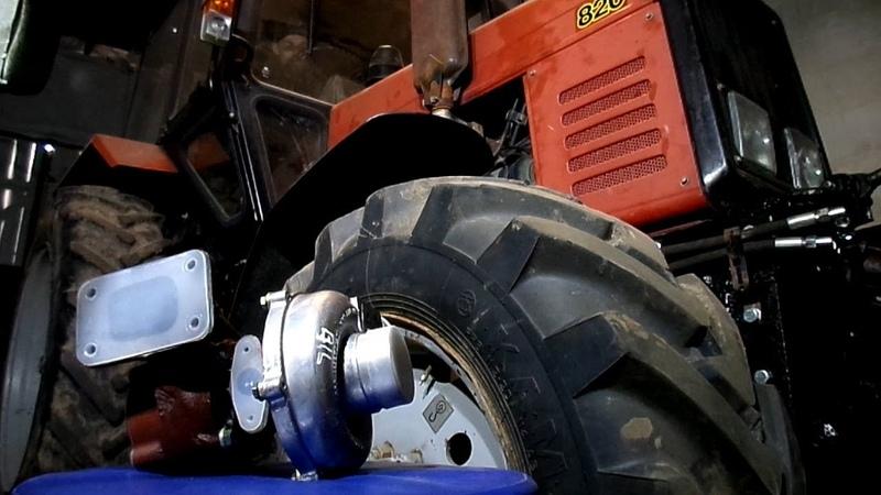 Установка турбины на тракторе МТЗ Беларусь 82 0 Turbo installation on tractor MTZ Belarus 82 0