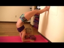 Handstand Scorpion from forearms with a Yoga Block and the wall - Kino Macgregor