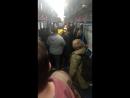 Футбольные фанаты в Московском метро 23.09.2018 в 19:10