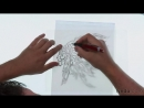 Lynda - Artist at Work - Native American Tribal Illustration 004 Getting started on the refined sketch