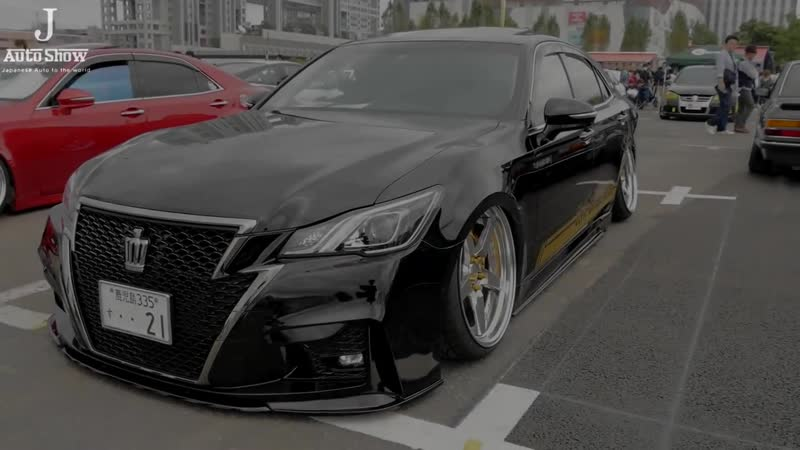 HD TOYOTA CROWN ATHLETE S J FRONTIER VIPSTYLE クラウンアスリートカスタム・特別仕様車 スタンスネーション東京2016