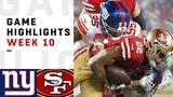 Giants vs. 49ers Week 10 Highlights